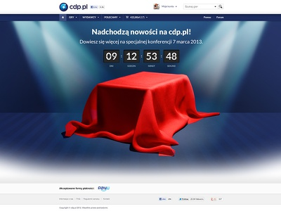 Splash page cdp.pl web design webdesign cdp splash page web counter layout blue simple clean