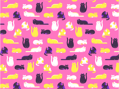 Cats pattern pattern design pattern graphicdesign animal graphic cat illustration design