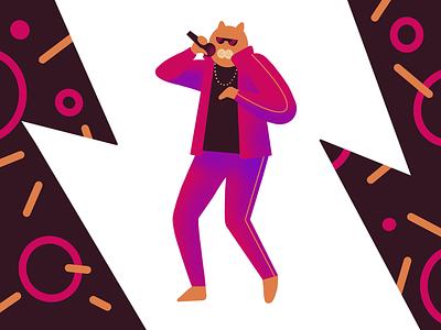 MC Nyan cat procreate design illustration