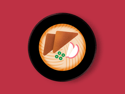 013 Udon graphic japanese food food procreate illustration design