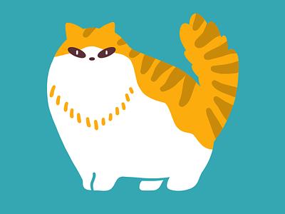 Norwegian Forest cat 🇳🇴 graphic animal cat procreate illustration design