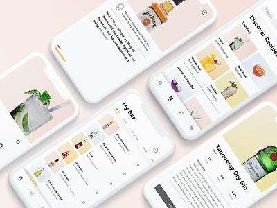 The Well —Cocktail Recipe App restaurant steps design bar recipes recipe cocktail ui dribbble app minimal