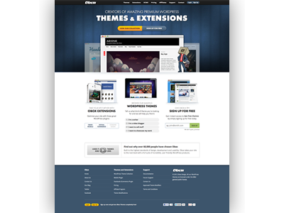 Obox homepage dribbble