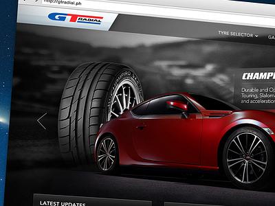 WIP: GT Radial gt radial tyres landing page photoshop web sneak peek