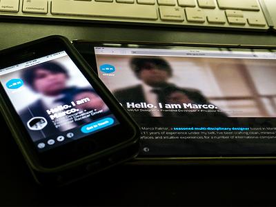 Landing Page (Temporary) landing page responsive mobile portfolio design ios for hire