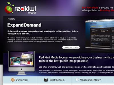 Red Kiwi Media website webdesign single pager