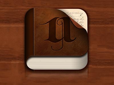 WIP: Utmost Icon/Logo photoshop diary icon branding book iphone logo utmost illustration wip