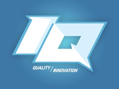 Quality/Innovation logo illustration branding webapp photoshop texture design iq ice quality ice car audio