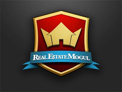 WIP 2nd Stab: Mogul photoshop design logo branding illustration texture webapp cloth gold mogul real estate crown crest shield