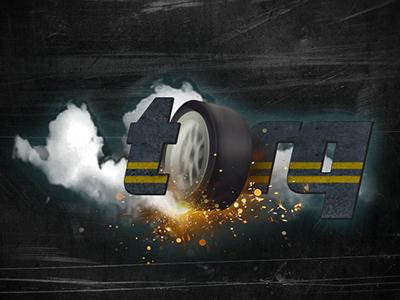 Torq branding drag burnout wheel photoshop torq game illustration logo