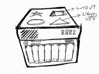 WIP: Open Redis logo idea rough sketch