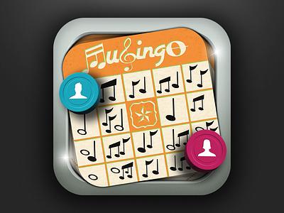 Musingo Icon Final icon ios bingo music notes card game chips token photoshop illustration game vector