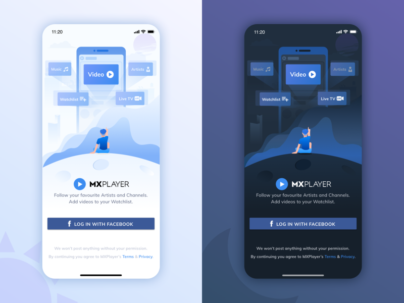 Log In Mxplayer by Weirdo on Dribbble
