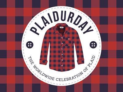 Plaidurday - Secondary mark logo mark plaidurday flannel shirt