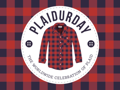 Plaidurday - Secondary mark