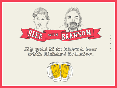 Beer With Branson 2.0 website illustration beer navigation css animation jquery