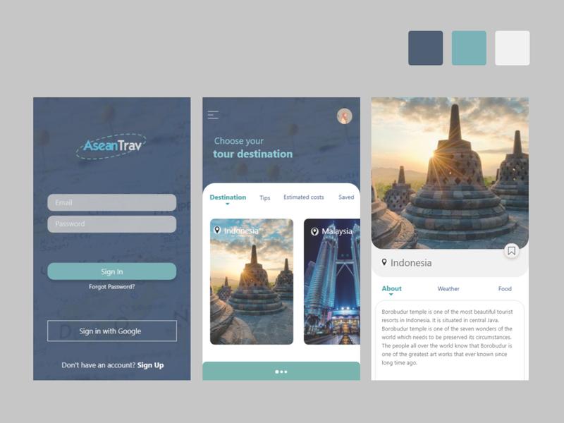 asean ux ui illustration icon design app