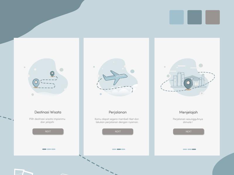 travel illustrator pastel color pastel ux ui illustration icon design app