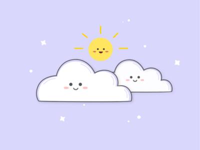 Awan minimal logo animation flat illustrator pastel color pastel illustration icon design