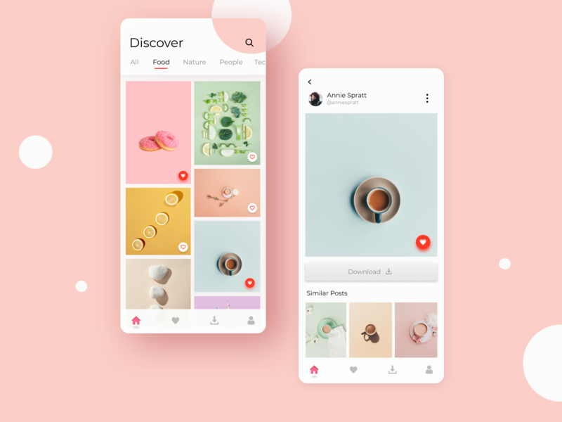 Stock Photos App minimal ux ui illustrator app pastel color pastel illustration icon design