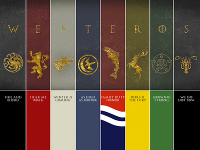 Game Of Thrones House Sigils By Marina Duque Dribbble