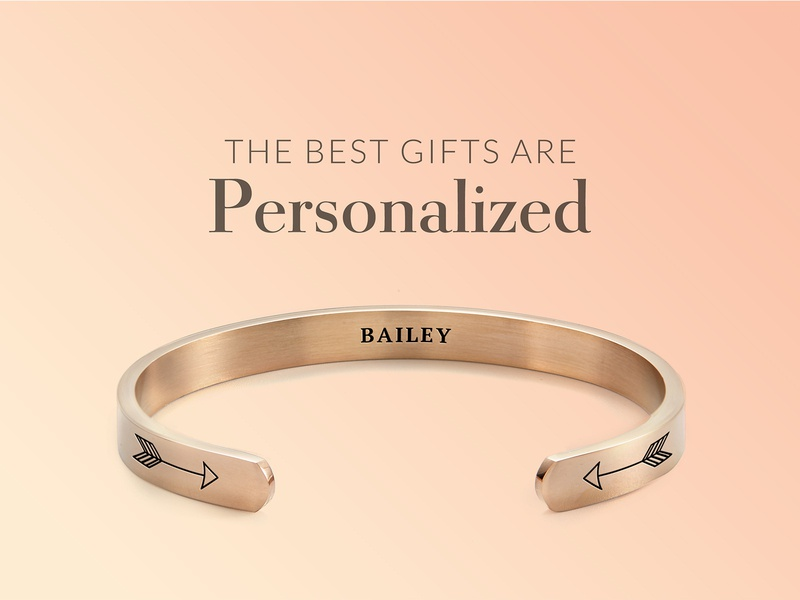 An email banner for personalized jewelry bracelets rose gold gradient color gradients gradient banner design mockup bracelet photoshop ecommerce banner email e-commerce