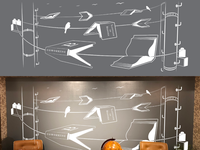 VInyl cutout design for a wall.