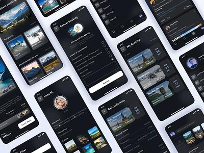 Travel app graphic design animation dark theme light theme light theme app dark theme app community app design ui design ux colors design