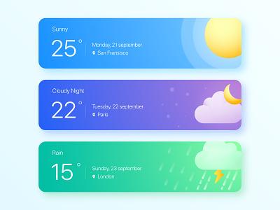 Weather App Widget website weather app weather ui widget design design app design widget app