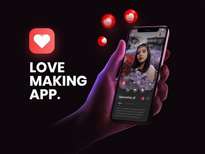 Love making app trending trend motion graphicdesign photoshop design prototype ui design