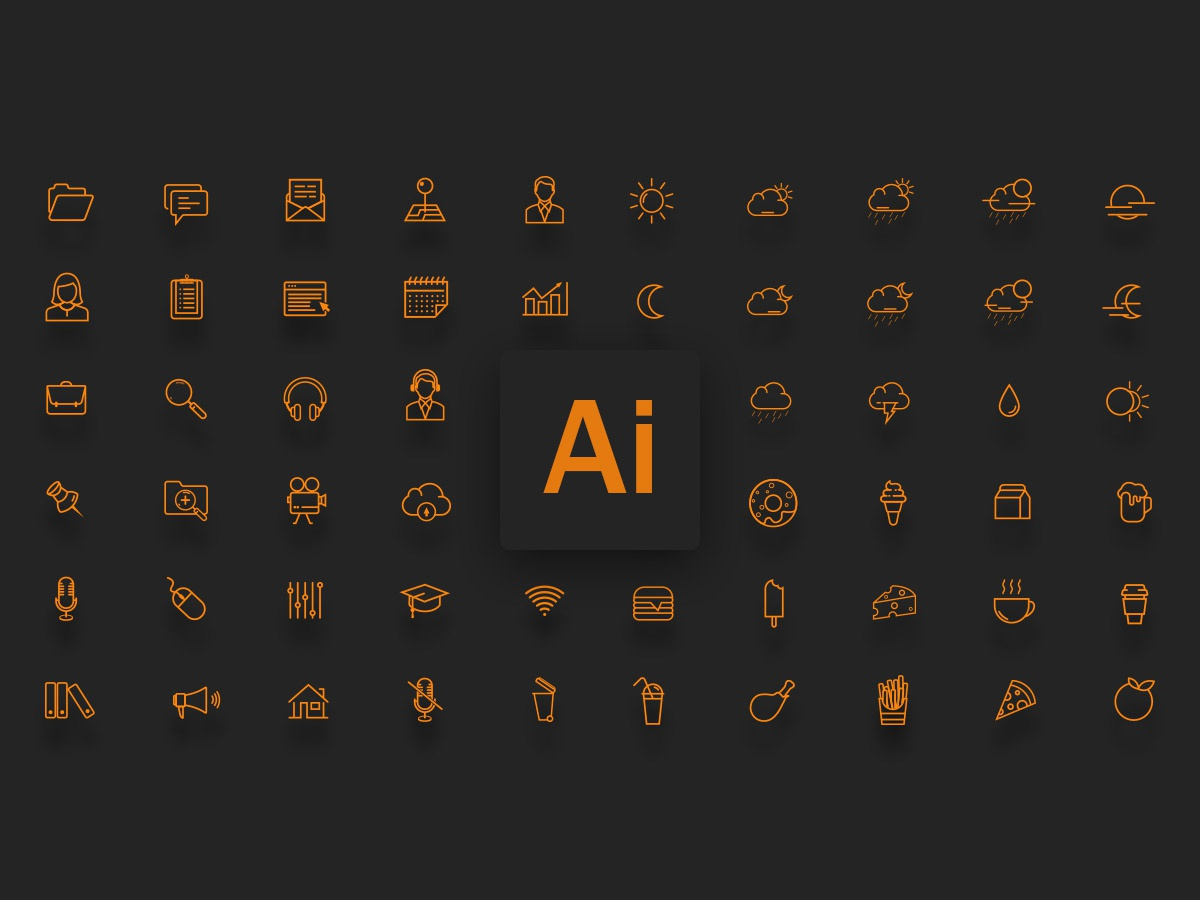 Illustrator Icons ui buttons