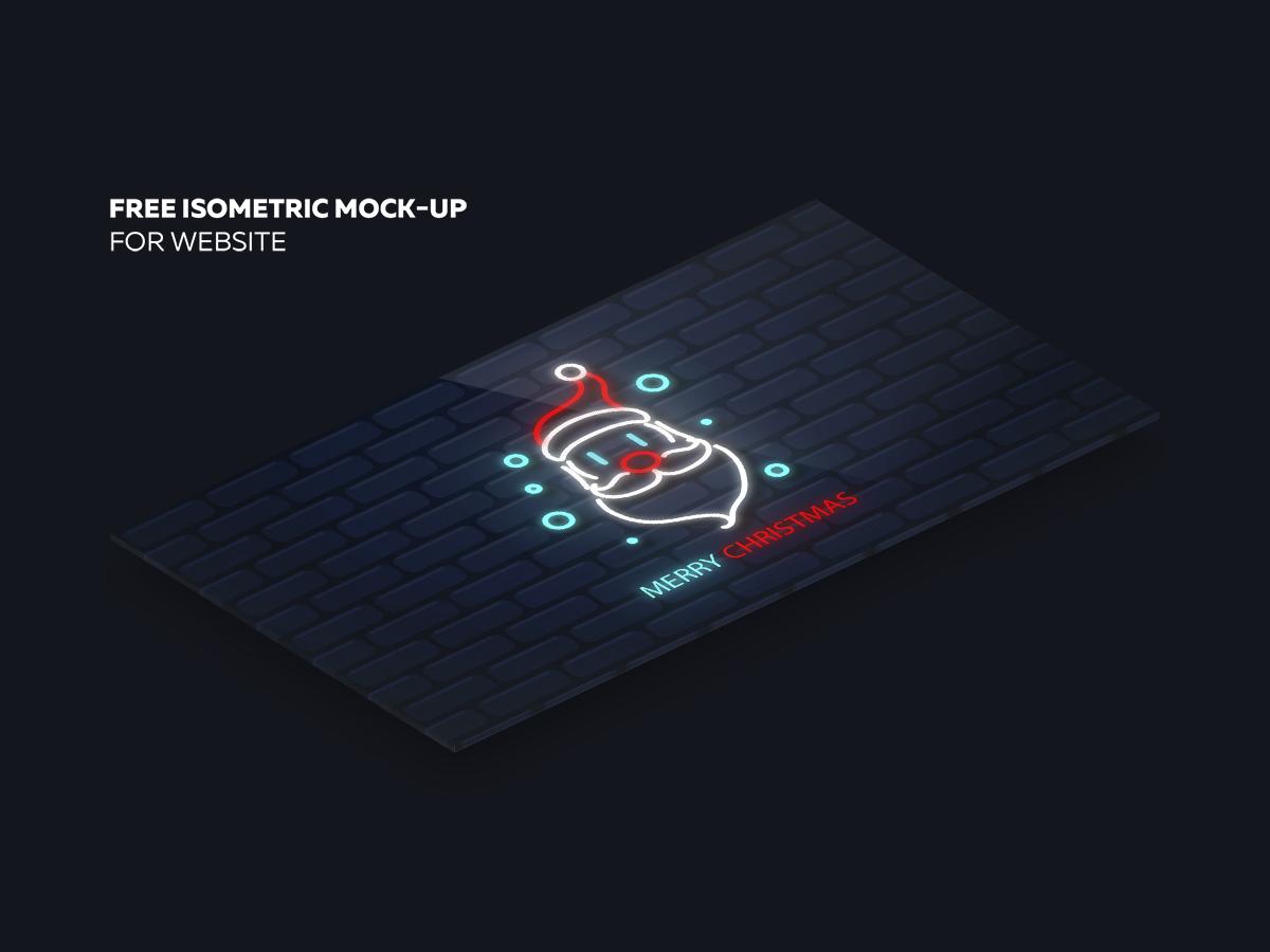 Free isometric mock−up for websiye