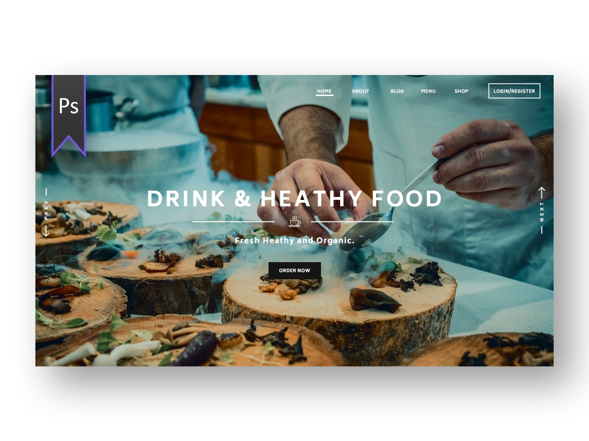 Food App ui kit photoshop
