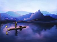Landscape illustration 1