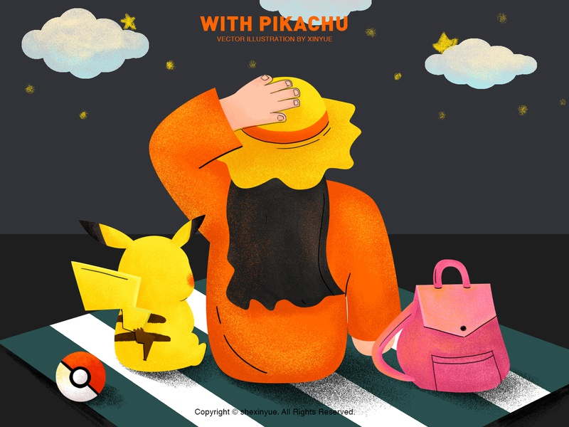 have an adventure with pokemon vector illustration design 插图
