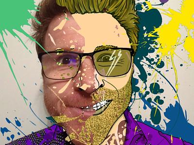 Toon me challenge procreate self portrait digital digitalart illustration toon