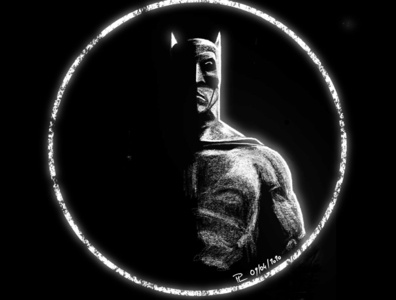 White Batman black white batman comics digital illustration illustration art
