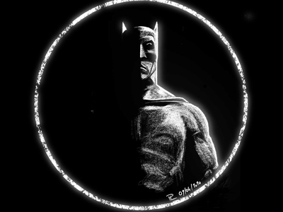 White Batman black white batman comics digital illustration illustration art
