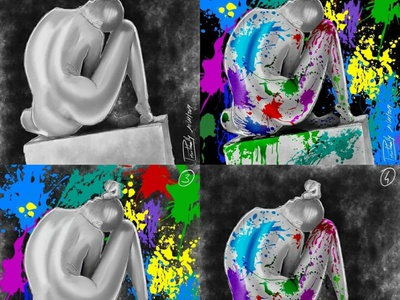 The painted lady digital painting paint lady autodesk sketchbook digitalart digital