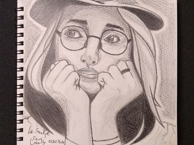 Thinking lady paper black and white black  white thinking lady