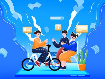 骑行体验官 手机屏幕 文件 体验 骑车 交谈 头脑风暴