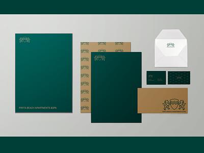 Pirita beach hotel and SPA hotel branding hotel forest logo photoshop illustration