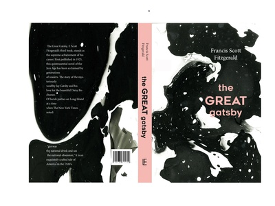 The Great gatsby custom book cover typography book cover