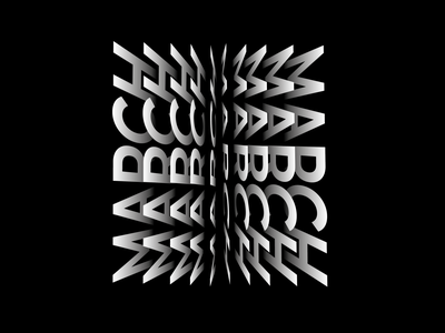 Typography - flipping text blackandwhite illustrator typography vector illustration