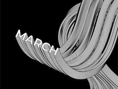 Typography poster - glitch effect blackandwhite illustrator typography vector illustration