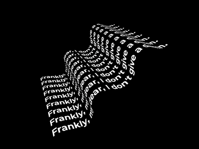 Typography- wave blackandwhite illustrator typography vector illustration