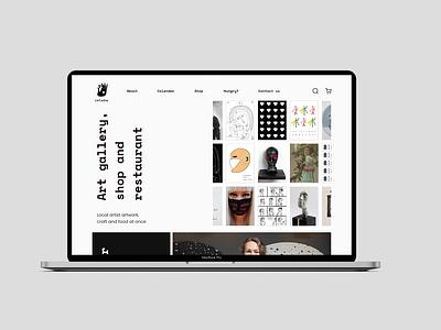 Galerija Istaba - website adobexd typography logo blackandwhite artgallery website design uxdesign uidesign