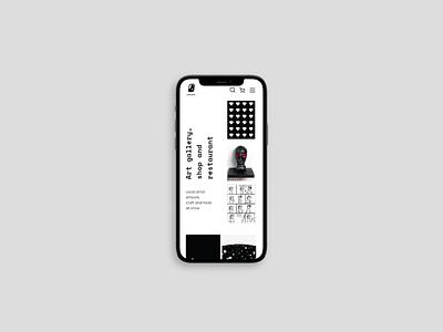 Galerija Istaba website - mobile artgallery blackandwhite uxdesign mobile ui uidesign logo