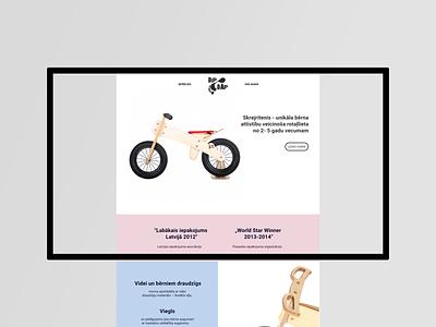 Updated website design for DipDap adobexd latvia for kids bicycles bicycle shop uiux uidesign website design