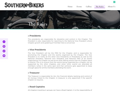 Southern Bikers Redesign